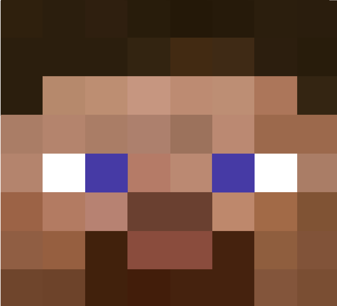 This is a picture of Gargantuan Minecraft Steve Head Printable